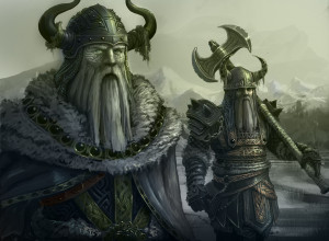 Viking warriors fantasy art wallpaper background