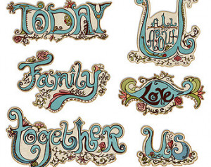 Everyday Digital Word Art Clipart - Family Sayings - Scrapbooking ...