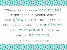 Real beauty LDS quote by Elaine S. Dalton #ldsyoungwomen # ...