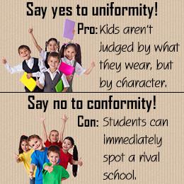 The debate, are school uniforms good or bad, has adolescents raising ...