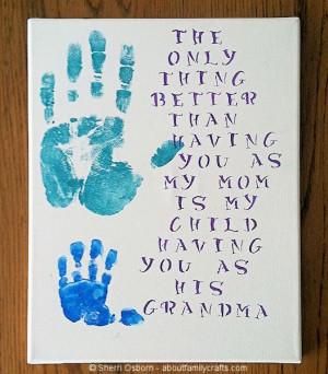 Handprint Gift for Grandparents