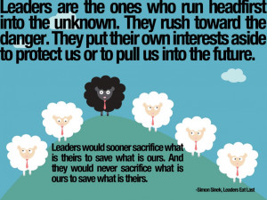 Simon Sinek what leaders do...