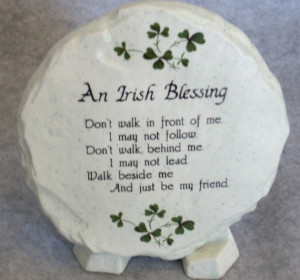irish blessing prayer plaque findgiftcom may the road rise up irish ...