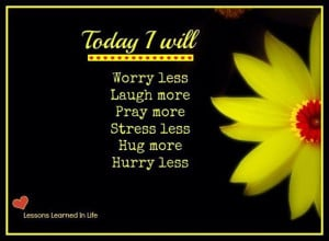 Today I Will....