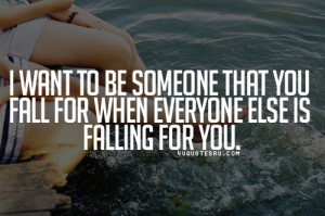 falling for someone