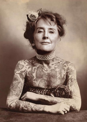 Ms. Alice Waters of Chez Panisse sporting traditional San Fran ink.