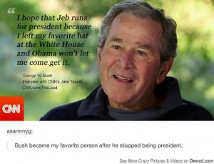 amuzing pics, Jeb Bush, George Bush, Funny, Funny quote, quote, CNN