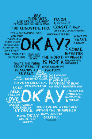 Books Direct, Quotes from The Fault in Our Stars by John Green.