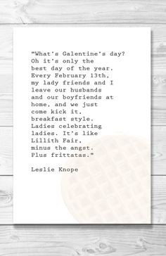 galentines day typography quote poster by shaileyann on etsy $ 12 00