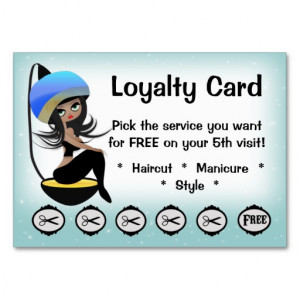 Beauty Salon Loyalty hairstylist punch cards Business Card from Zazzle ...