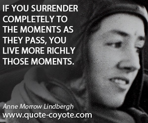 Quotations By Anne Spencer Morrow Lindbergh