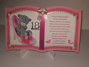 18th Birthday Card Personalised For Daughter, Grandaughter, Niec