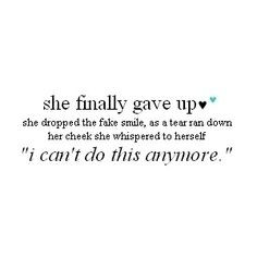 ... such a gut wrenching feeling...when you know you know.....it's over