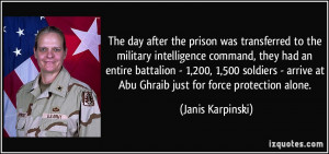The day after the prison was transferred to the military intelligence ...
