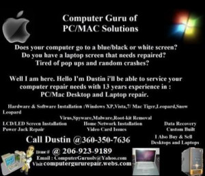 About Computer Guru of PC/Mac Solutions