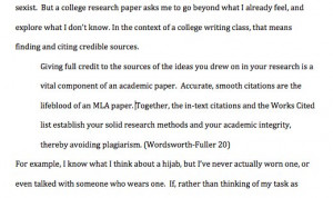 Long quotes in apa