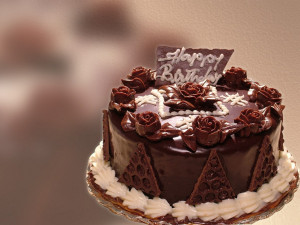 Big Chocolate Cake Wish you Happy Birthday