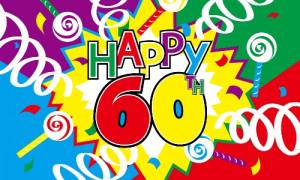 60th birthday happy 60th birthday giant sign happy 60th birthday ...