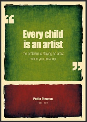 art quotes, artist, child, child artist, color, different, every child ...