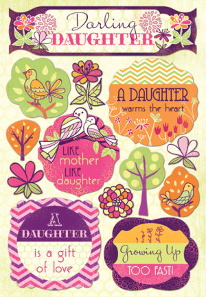 ... Daughter and Son Collection - Cardstock Stickers - Darling Daughter