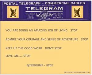 telegram #queenisms #stop