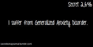 psych facts Generalized Anxiety Disorder GAD is an anxiety disorder