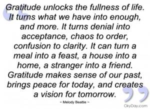 gratitude unlocks the fullness of life melody beattie
