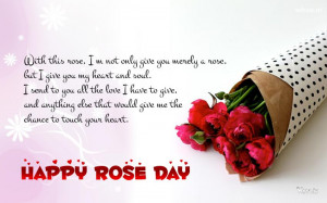 Top 25 Sweet Awesome Romantic Lovely Happy Rose Day 2014 SMS, Quotes ...