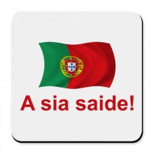 Portuguese A sia saide! Cork Bottom Coaster - Funny sayings ...