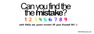 Can you find any mistake there, set this as your cover if you found it ...