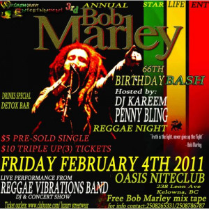 Annual Bob Marley Birthday