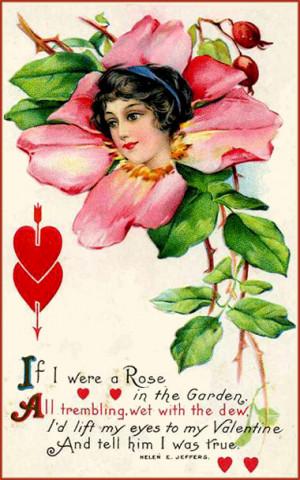 free printable valentine postcards in vintage style drawing of pink