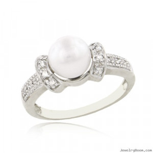 Cultured Pearl And Diamond