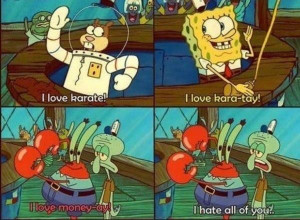 Spongebob, Sandy, Mr. Krabs & Squidwards Share Their Passions