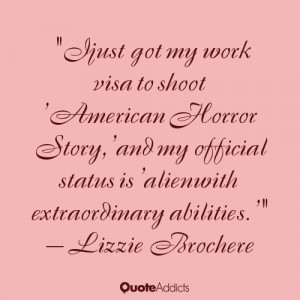 "... status is 'alien with extraordinary abilities.'"" — Lizzie Brochere"