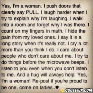 Yes,I'm A Woman. - QuotePix.com - Quotes Pictures, Quotes Images ...