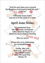 Review Nursing School Graduation Announcement Invitation Wording ...
