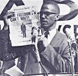 Malcolm X inspires militant struggle against racism