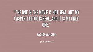 The one in the movie is not real, but my Casper tattoo is real, and it ...
