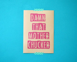 Gossip Girl quote print damn that mother by invisiblecrown, €3.95