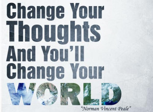 Change your thoughts picture quote norman vincent peale