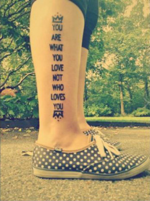 ... this image include: save rock and roll, love, Lyrics, quote and tattoo