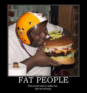 fat people joke motivational poster