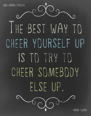 Cheer Up – It's a Poster Freebie