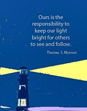 ... being a light—can help to illuminate an increasingly dark world