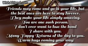 Best Friend Birthday Quotes - WishAFriend - HD Wallpapers