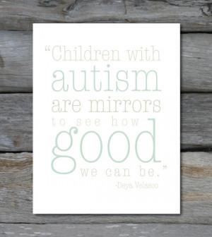 Autism Quote 8 x10 print