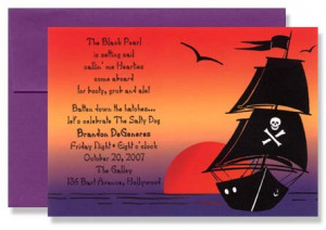 Pirate ship at Sea Invitation