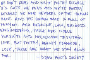 Quote from Dead Poets' Society