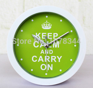 Green Purple Colorful Famous Quotes Letters Desk Clock Despertador ...